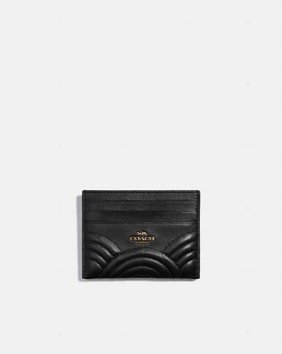 Coach CARD CASE WITH DECO QUILTING