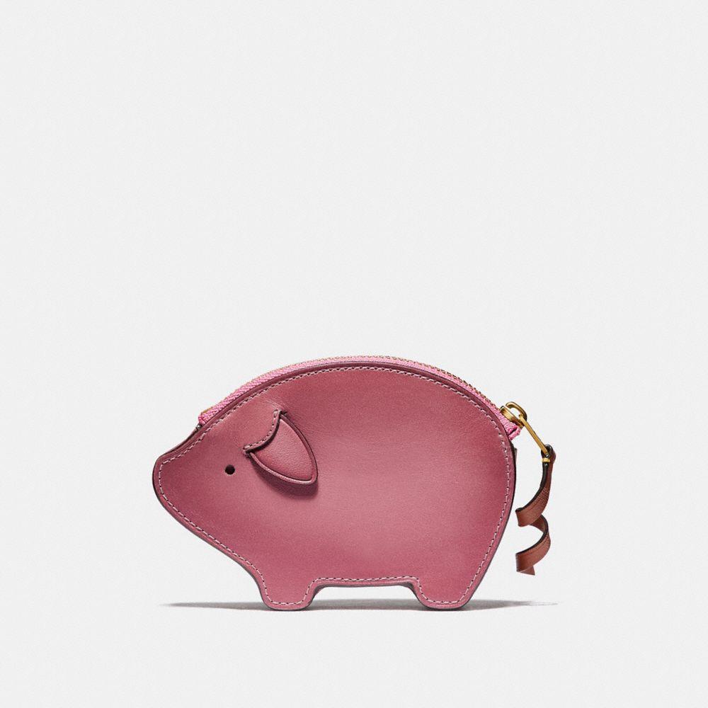 Coach Pig Coin Case