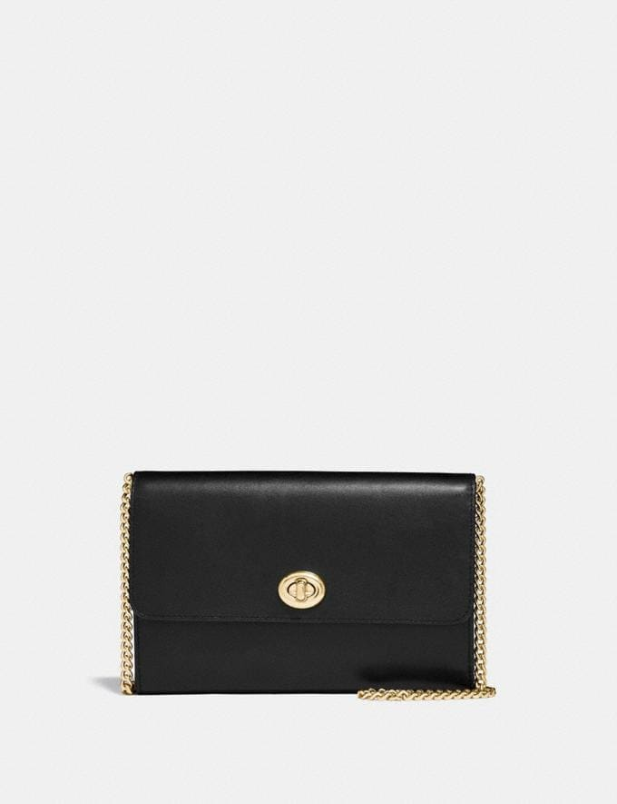 Coach Marlow Turnlock Chain Crossbody Black/Gold Singles Day