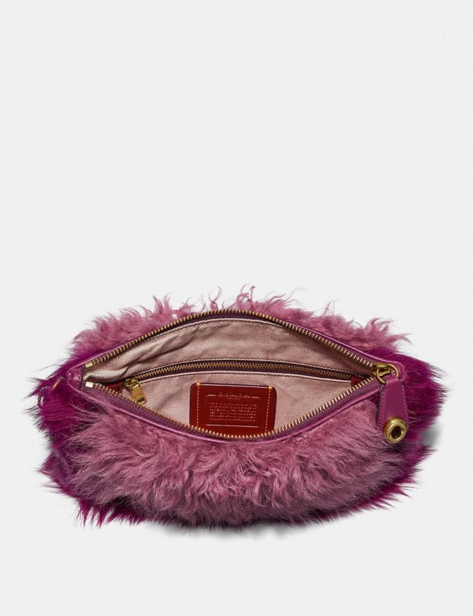 Coach Turnlock Wristlet 26 Dark Berry Multi/Brass Women Small Leather Goods Wristlets Alternate View 1