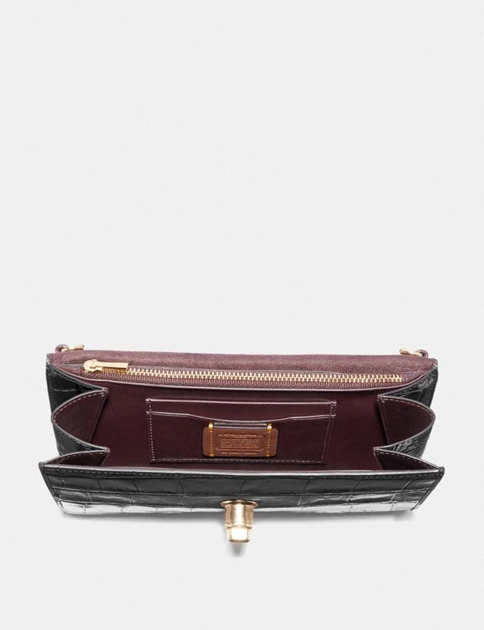 Coach Marlow Turnlock Chain Crossbody Oxblood/Pewter Women Bags Crossbody Bags Alternate View 2