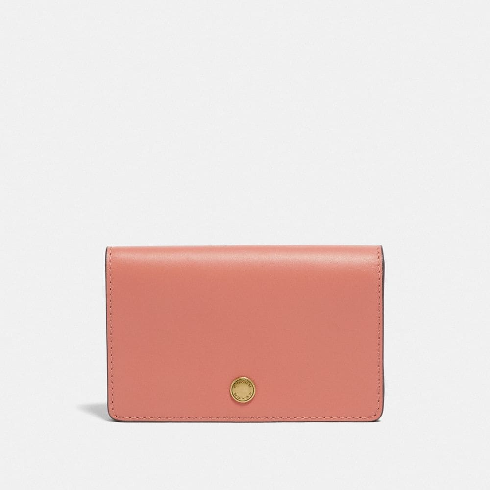 foldover card case in colorblock