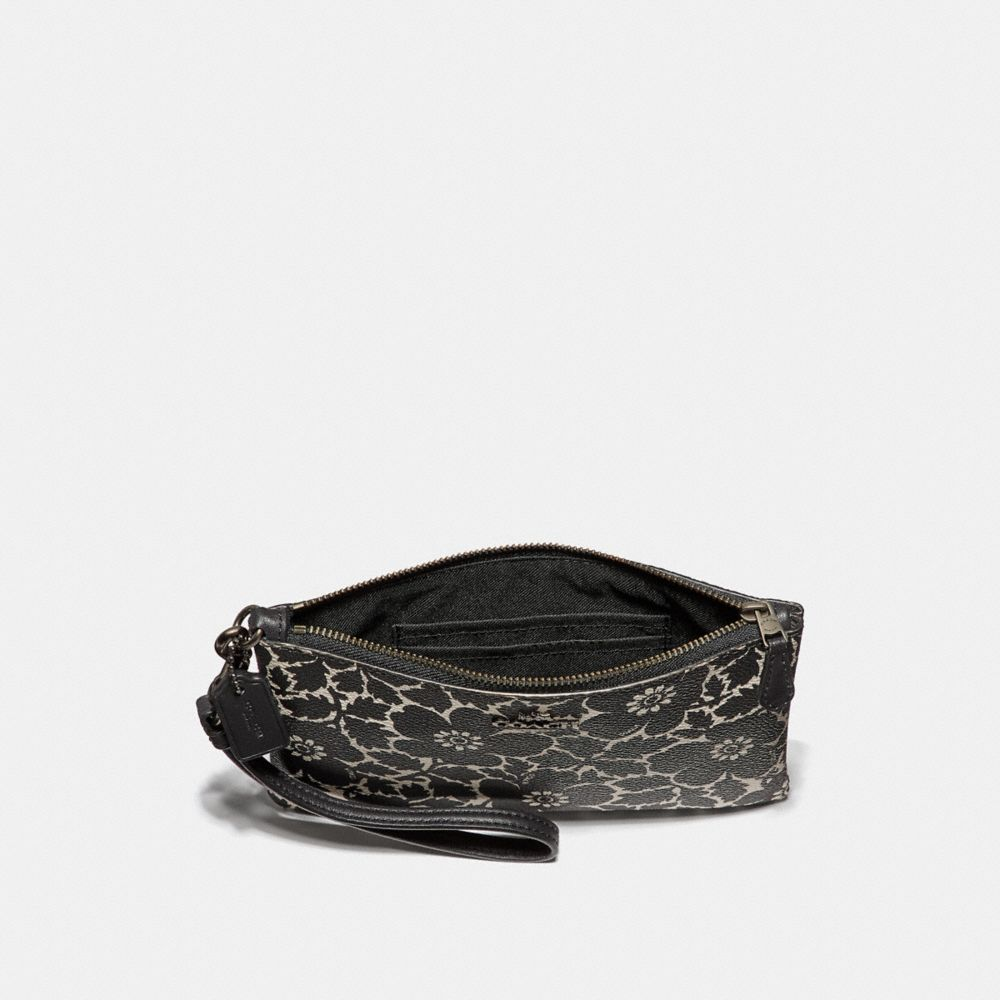 Coach Small Wristlet With Anemone Print Alternate View 1