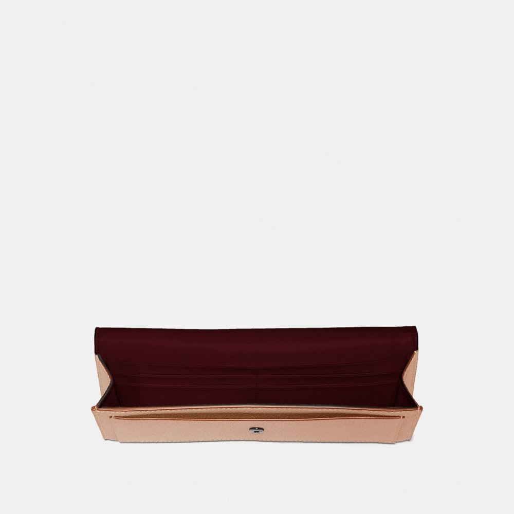Coach Soft Wallet With Crystal Tea Rose Alternate View 1