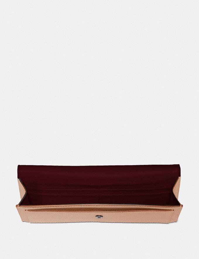 Coach Soft Wallet With Crystal Tea Rose Nude Pink/Gunmetal VIP SALE Women's Sale Wallets & Wristlets Alternate View 1