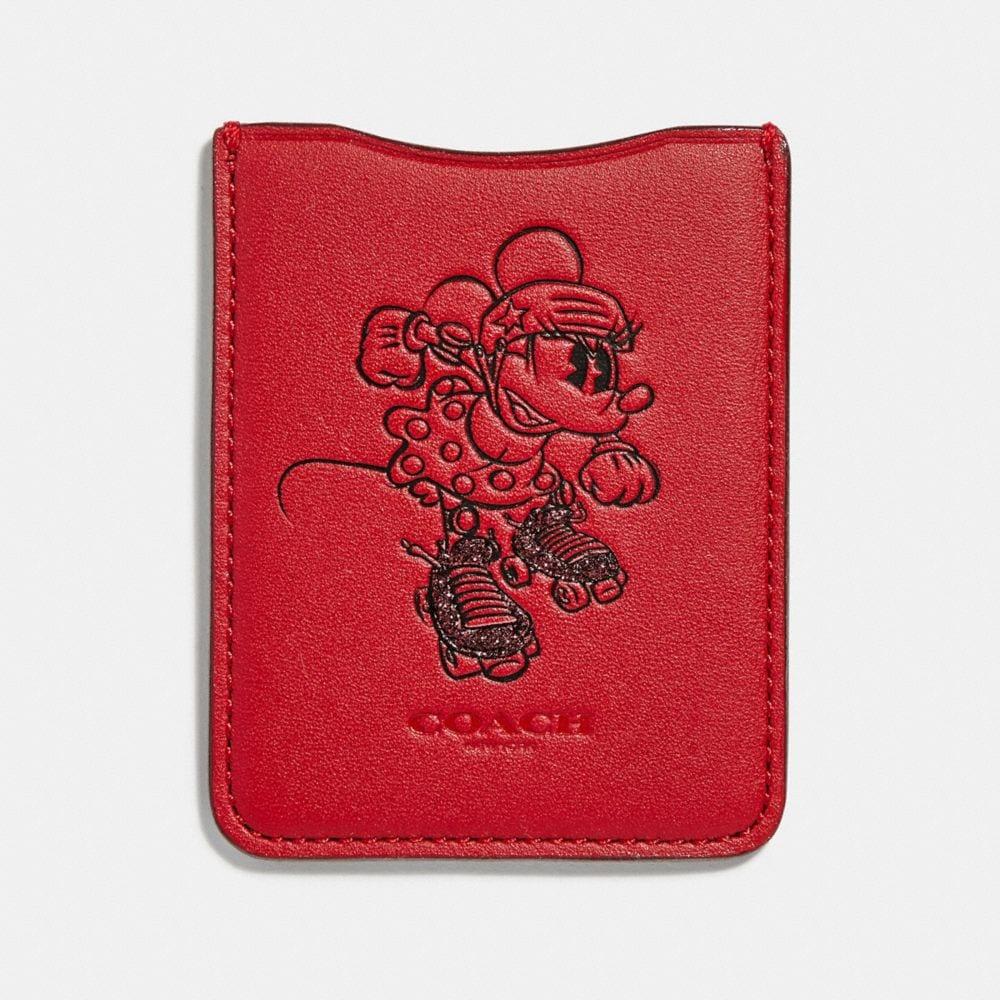 minnie mouse rollerskate phone pocket sticker