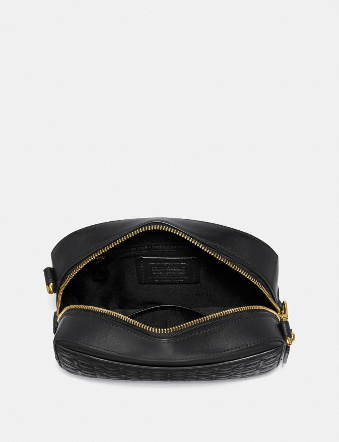 Coach Camera Bag in Signature Leather Black/Gold Women Bags Crossbody Bags Alternate View 2