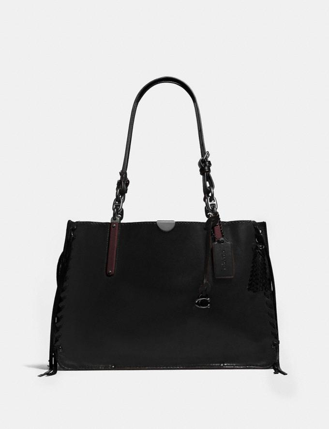 Coach Dreamer Tote 36 Black/Pewter Women Bags Totes