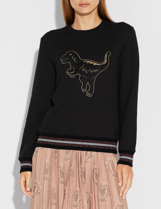 Coach Embroidered Rexy Sweatshirt Dark Shadow SALE 30% off Select Full-Price Styles Women's Alternate View 1