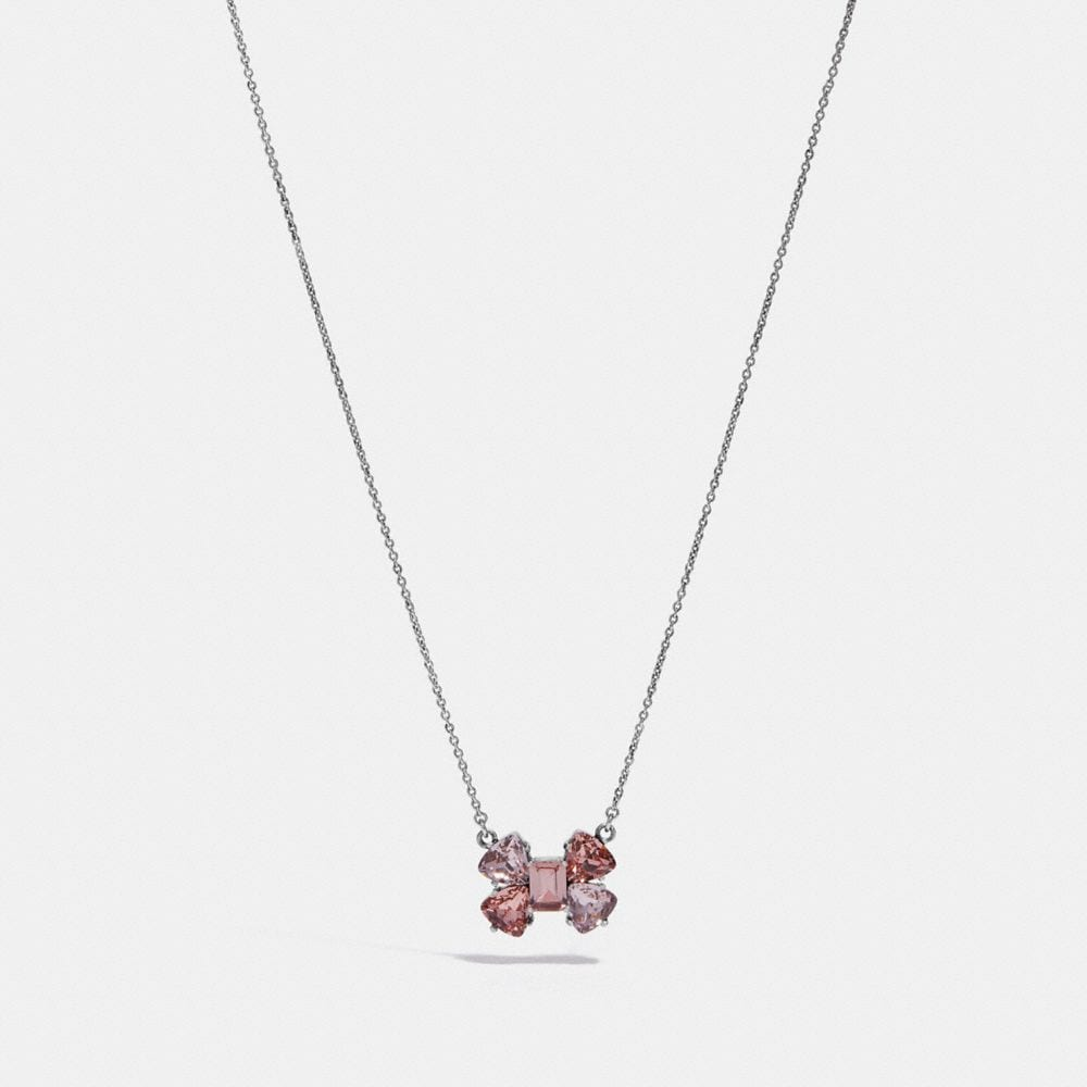 crystal bow necklace