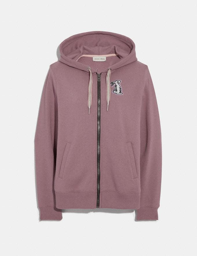 Coach Selena Bunny Hoodie Dark Lilac SALE Women's Sale Ready-to-Wear