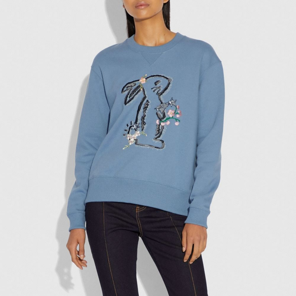 Coach Selena Bunny Sweatshirt Alternate View 1
