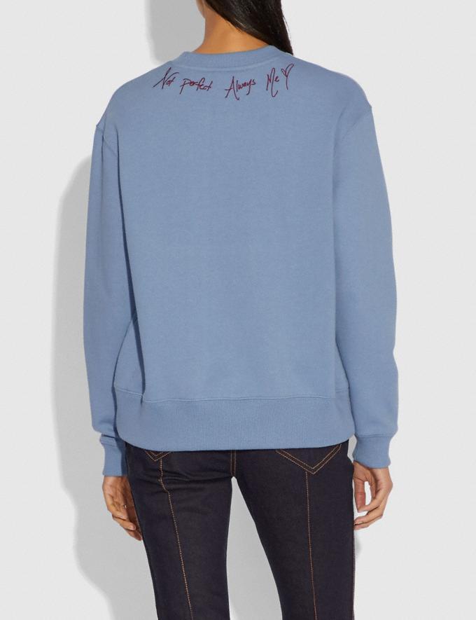 Coach Selena Bunny Sweatshirt Dusty Blue SALE Women's Sale Ready-to-Wear Alternate View 2