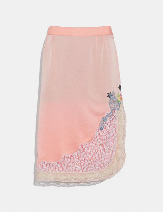 Coach Selena Lace Detail Skirt Pajama Pink New Featured Selena Gomez in Coach