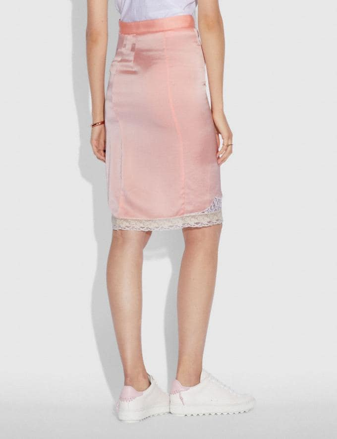 Coach Selena Lace Detail Skirt Pajama Pink New Featured Selena Gomez in Coach Alternate View 2