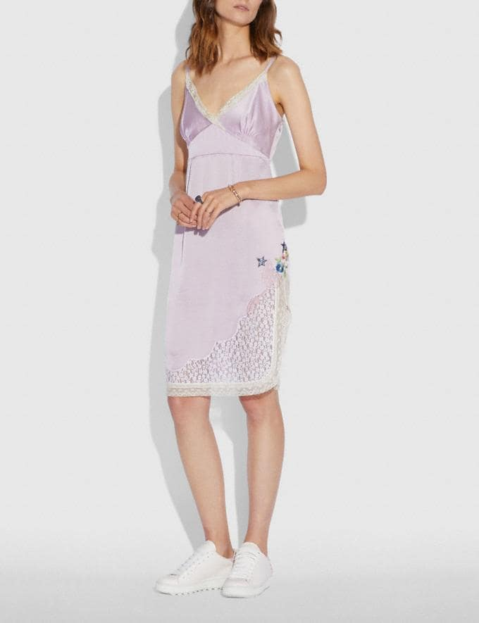 Coach Selena Slip Dress Pale Lilac SALE Women's Sale Ready-to-Wear Alternate View 1