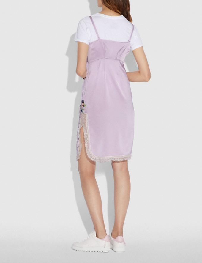 Coach Selena Slip Dress Pale Lilac Women Ready-to-Wear Dresses Alternate View 3