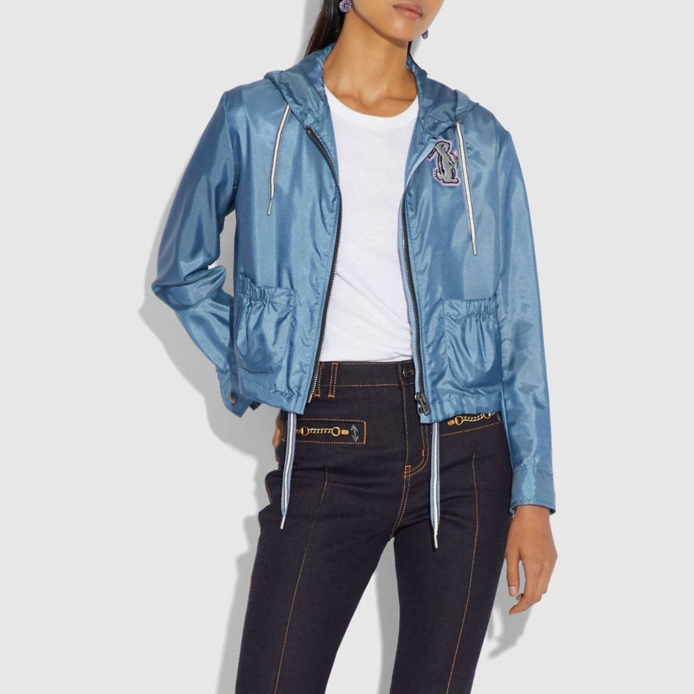 Coach Selena Embellished Windbreaker Alternate View 1