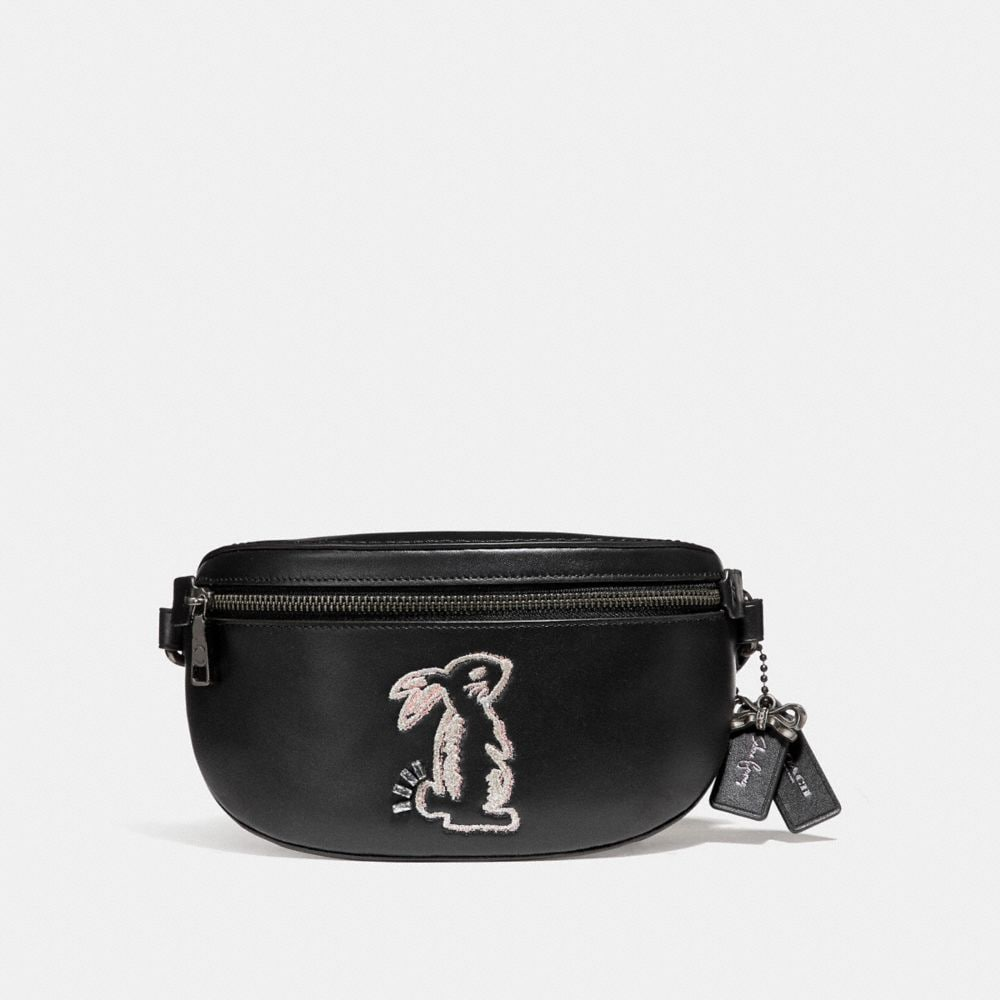 selena belt bag with bunny