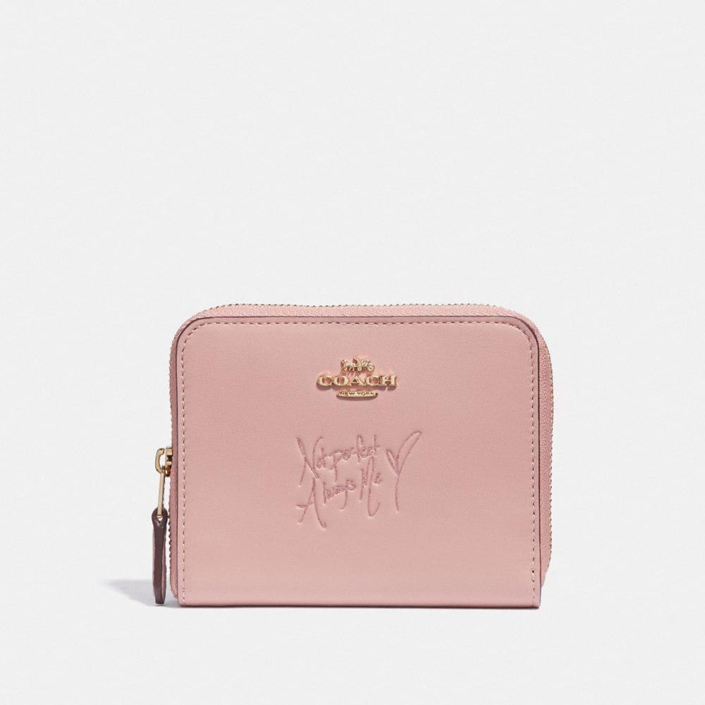 selena small zip around wallet in colorblock