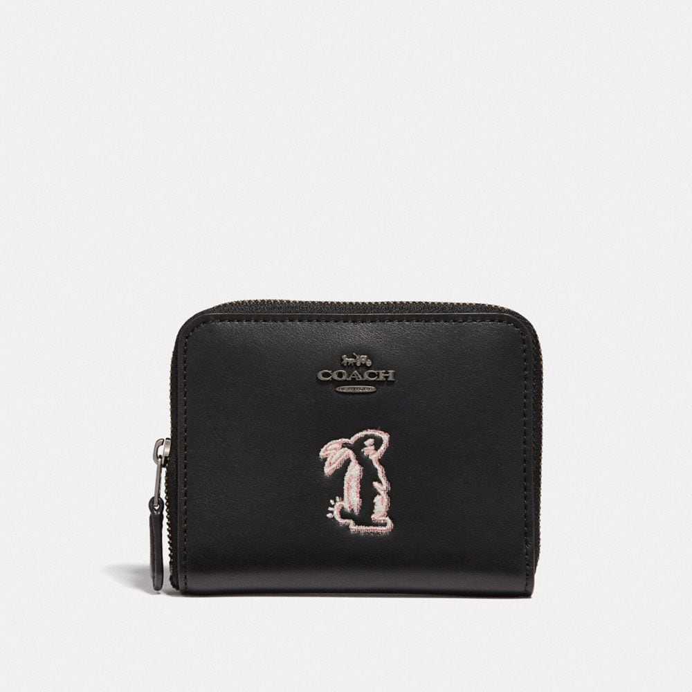 Coach Selena Small Zip Around Wallet With Bunny