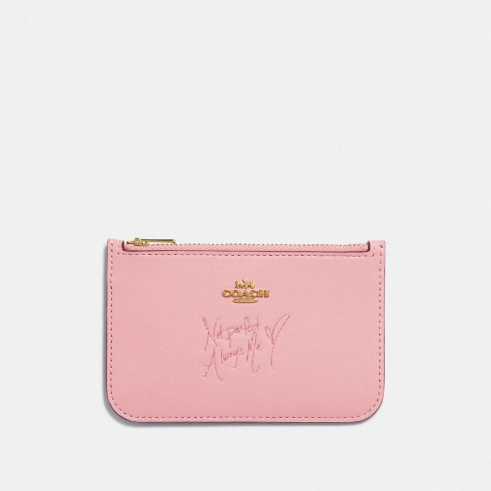 SELENA ZIP CARD CASE IN COLORBLOCK