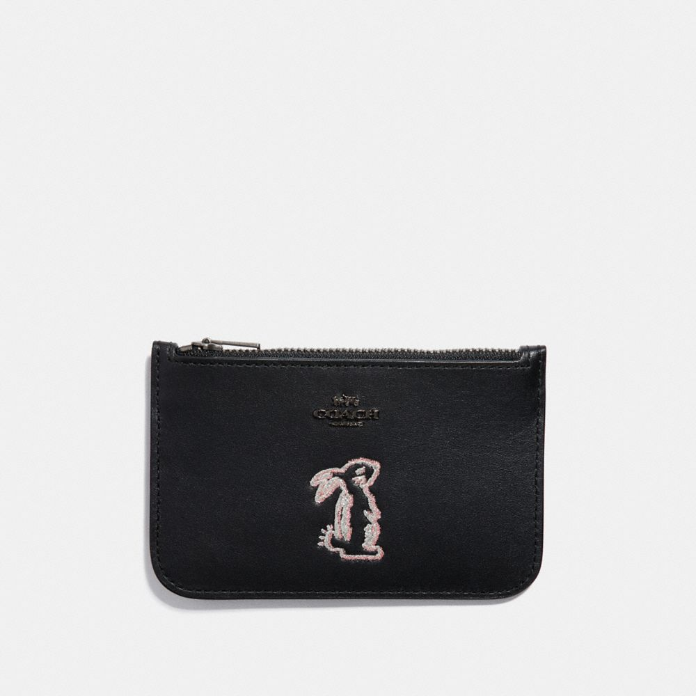 Coach Selena Zip Card Case With Bunny