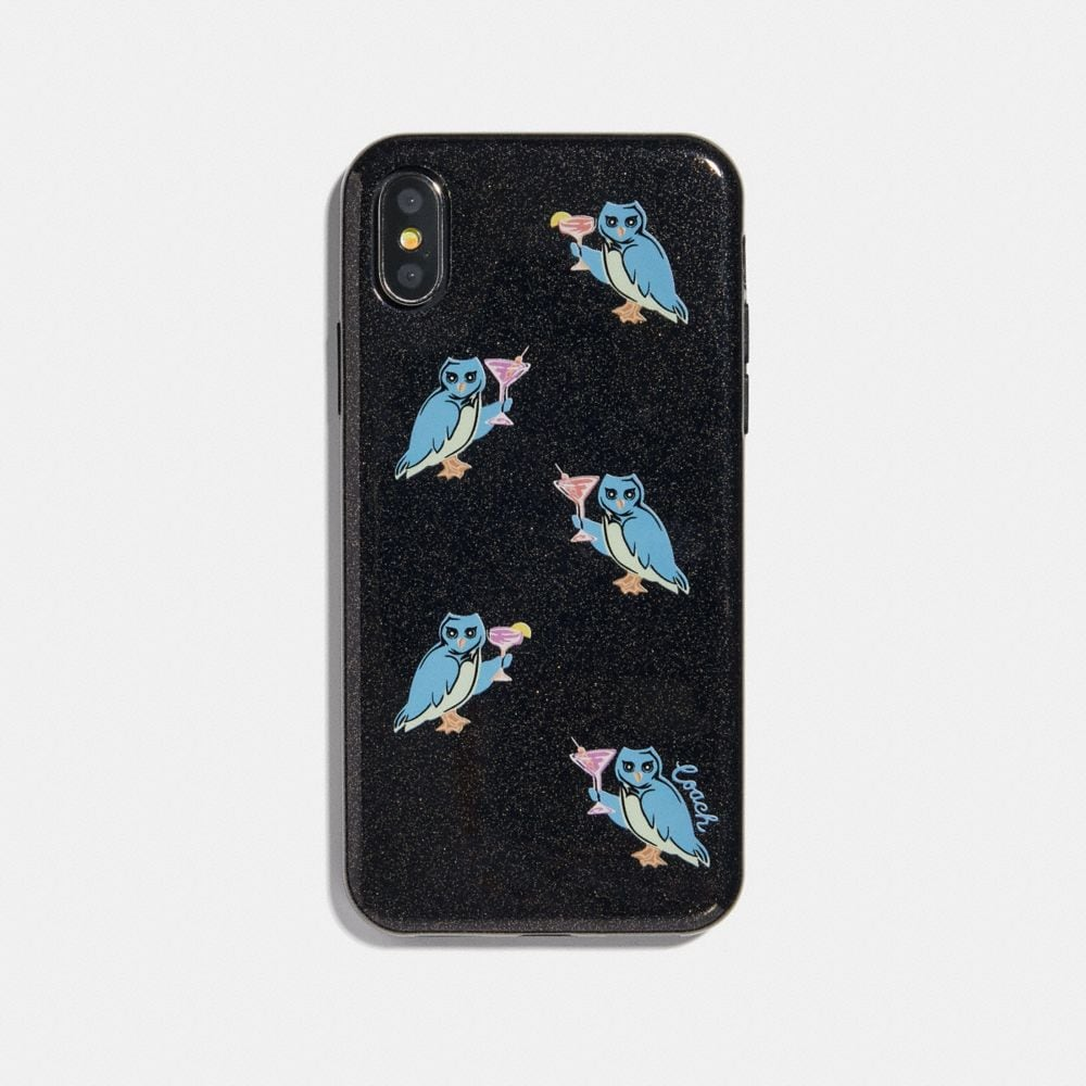 IPHONE X/XS CASE WITH PARTY OWL PRINT