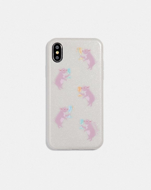 Coach IPHONE X/XS CASE WITH PARTY PIG PRINT