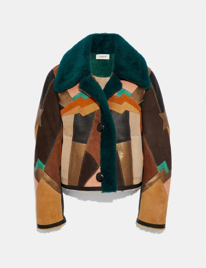 Coach Craft Deco Shearling Jacket Multi