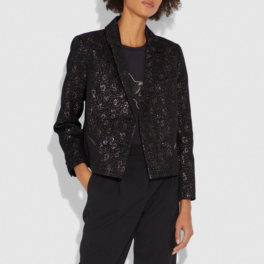 Coach Tailored Jacquard Jacket Alternate View 1