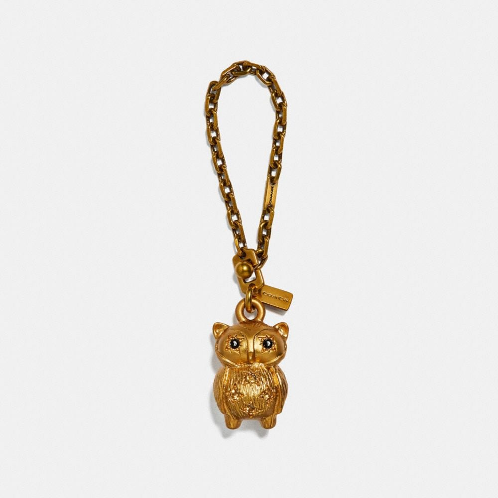 JEWELED OWL BAG CHARM