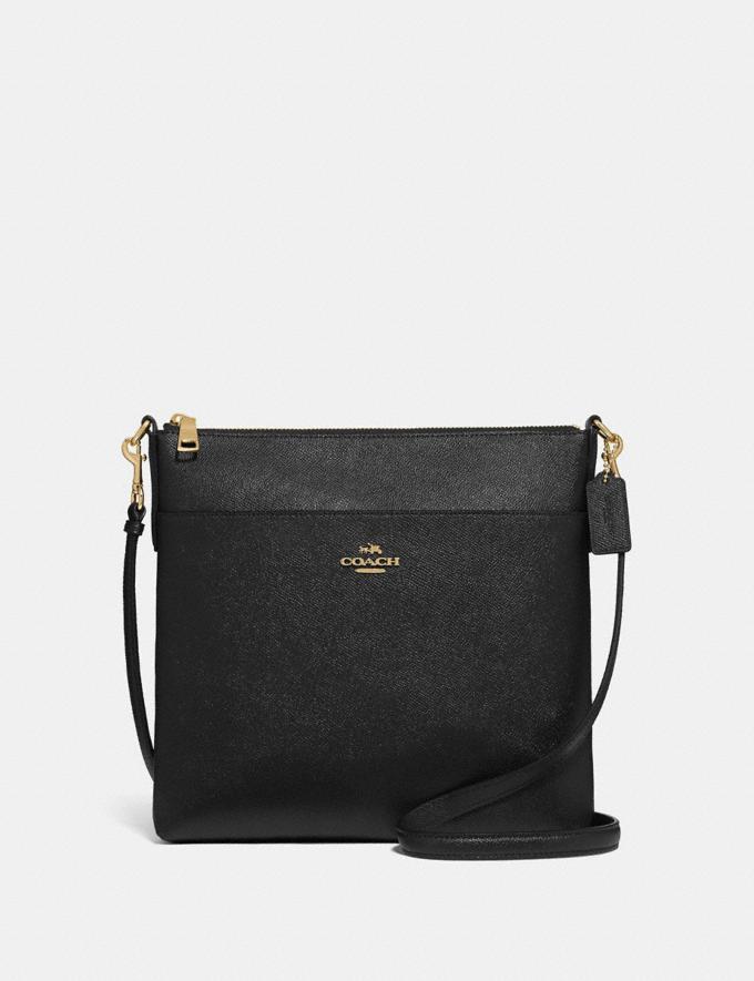 Coach Kitt Messenger Crossbody 26 Gold/Black Women Handbags Crossbody Bags