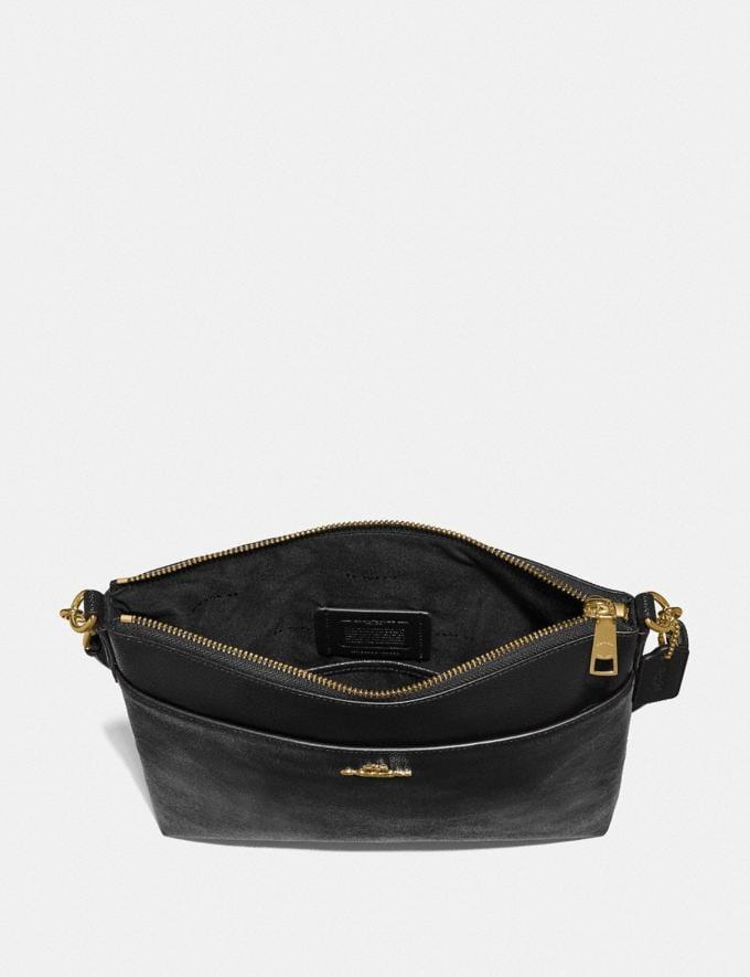 Coach Kitt Messenger Crossbody 26 Gold/Black Women Handbags Crossbody Bags Alternate View 1