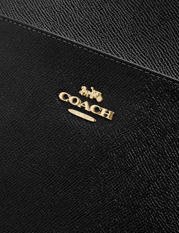 Coach Kitt Messenger Crossbody 26 Gold/Black Women Handbags Crossbody Bags Alternate View 3