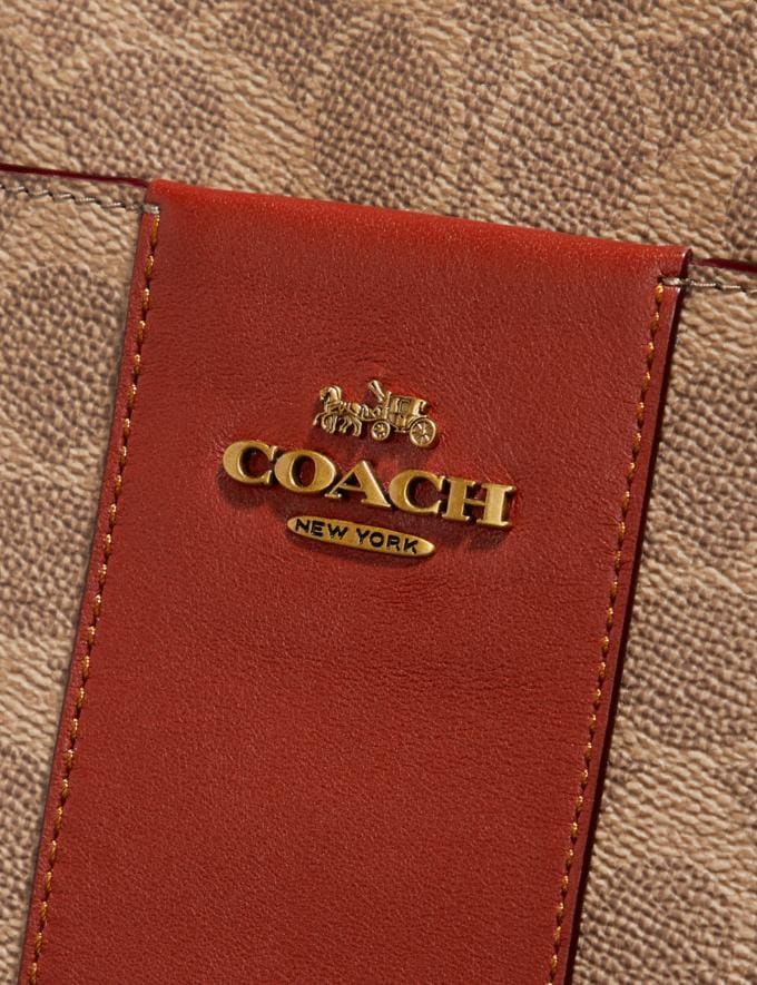 Coach Kitt Messenger Crossbody 26 in Colorblock Signature Canvas Brass/Tan Rust Gifts For Her Under $300 Alternate View 3