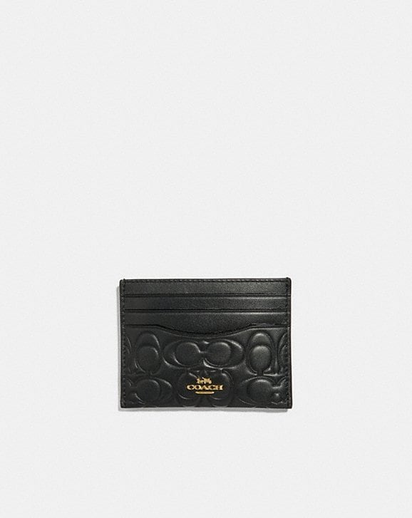 Coach CARD CASE IN SIGNATURE LEATHER