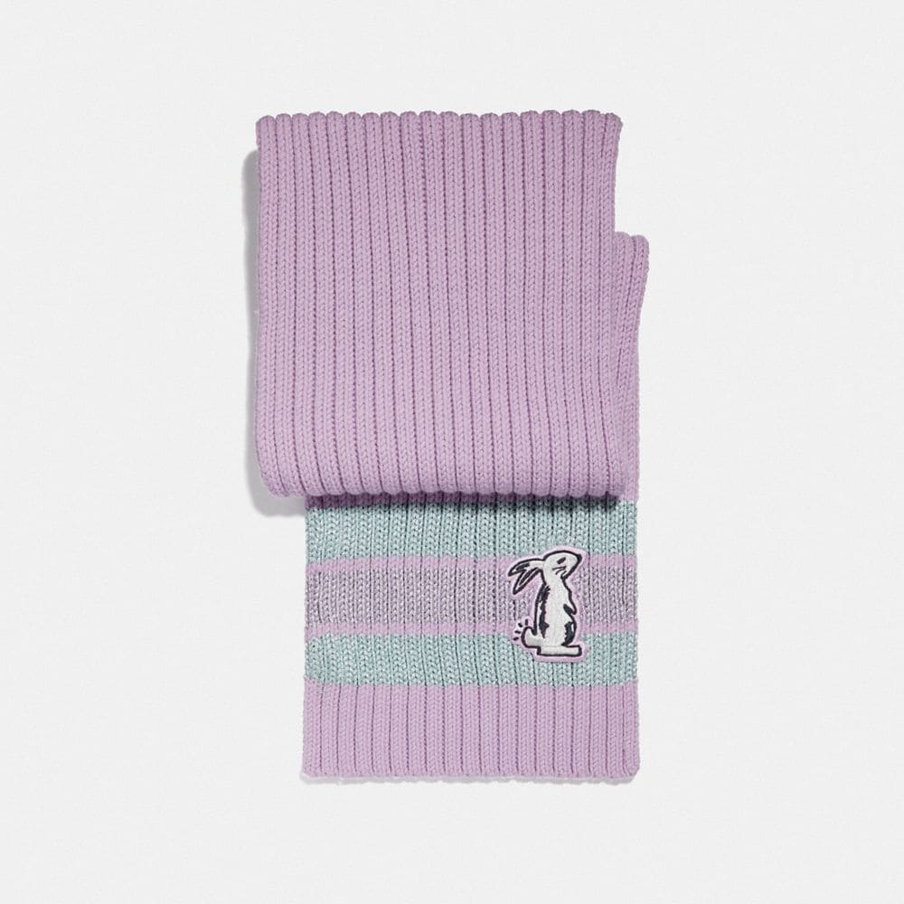 selena knit scarf with bunny