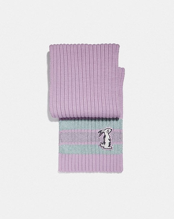 Coach SELENA KNIT SCARF WITH BUNNY