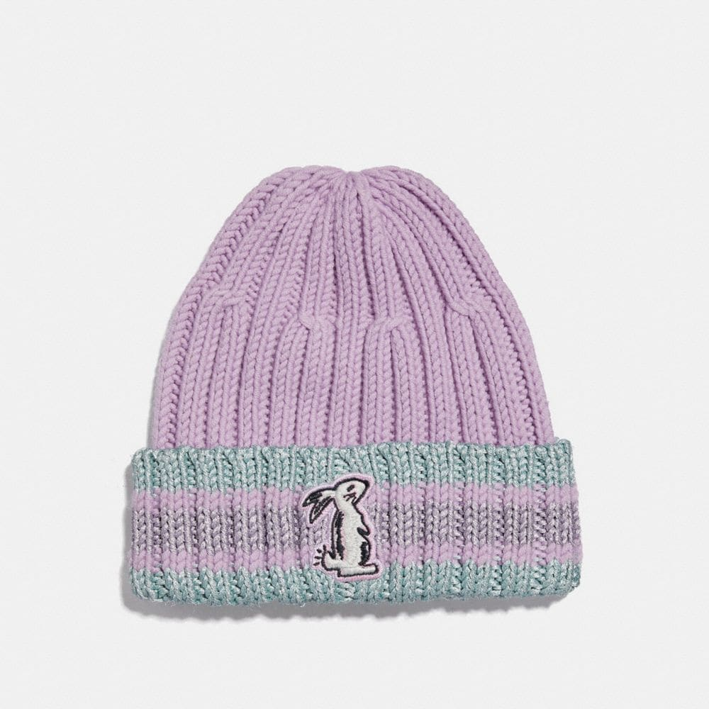 Coach Selena Knit Hat With Bunny