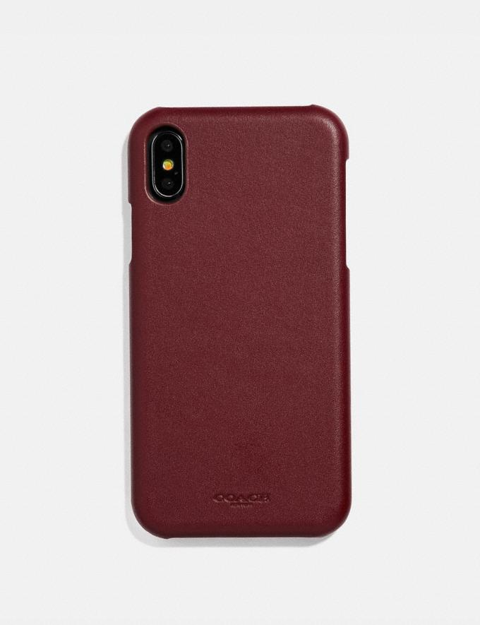 Coach iPhone Xr Case Red Currant Women Accessories Tech & Work