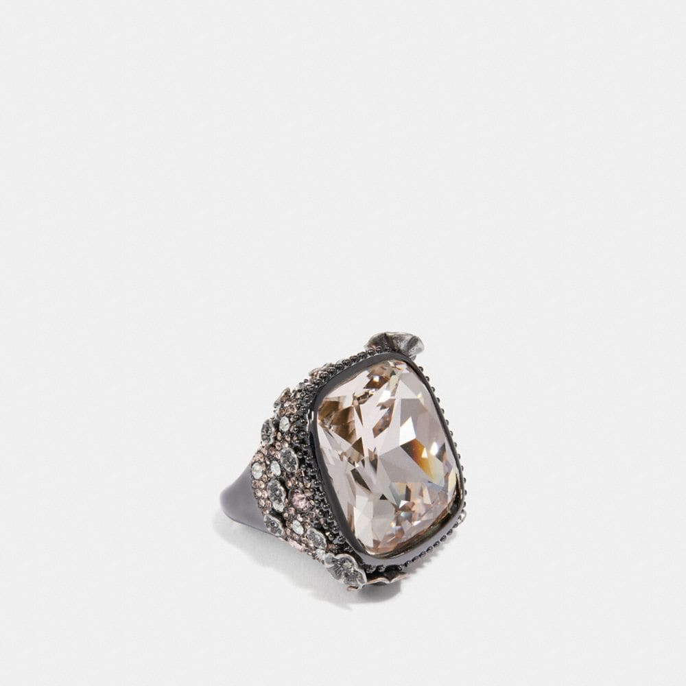 Coach Rock Candy Tea Rose Ring