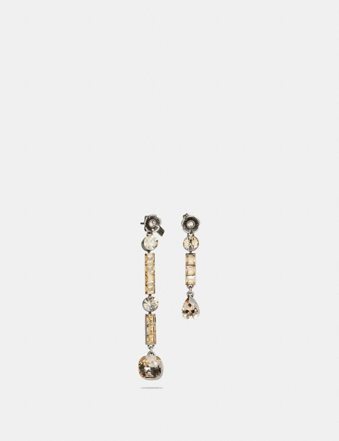 Coach Tea Rose Drop Earrings Rose/Silver Gifts For Her Bestsellers