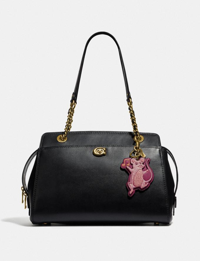 Coach Party Mouse Bag Charm Dark Berry/Brass  Alternate View 1