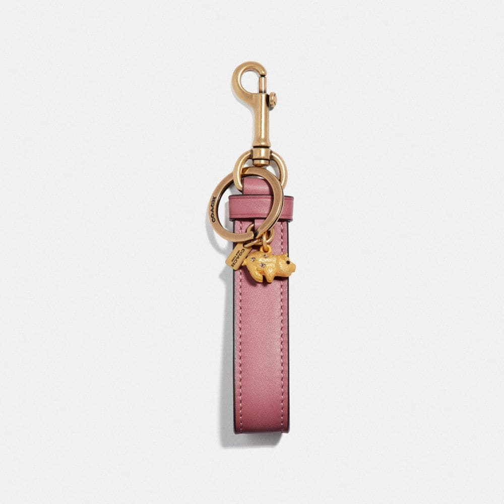 Coach Animals Charm Loop in Rose/Brass