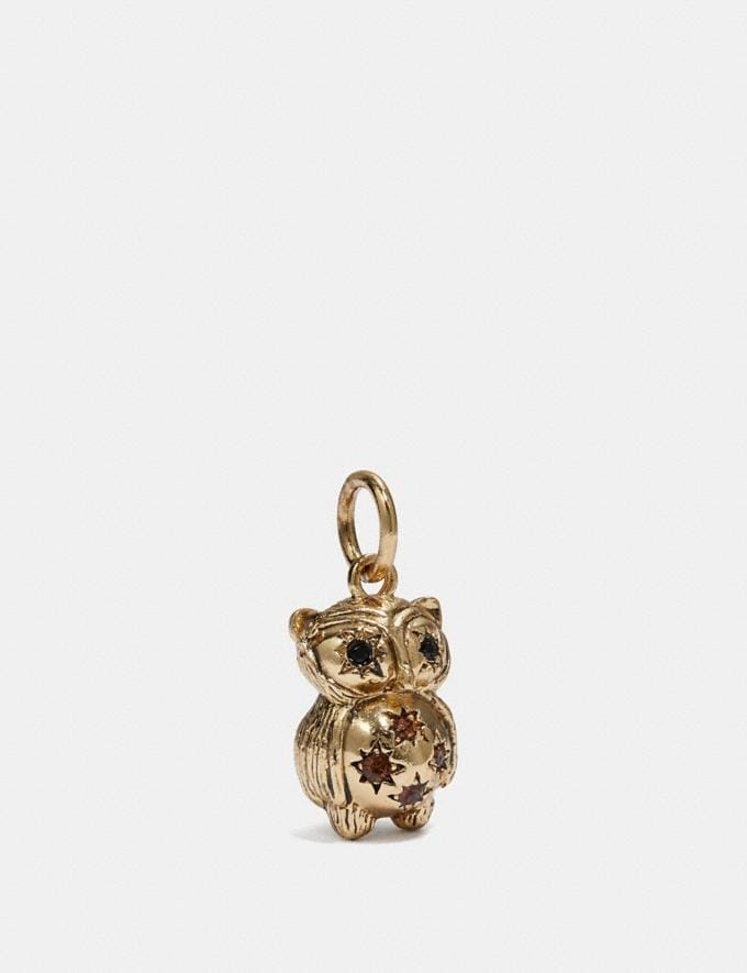Coach Owl Charm Multi/Gold SALE Women's Sale Jewellery