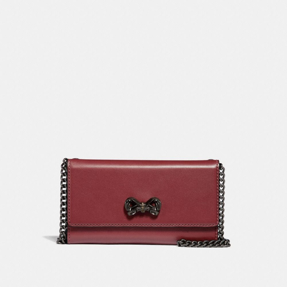 Coach Selena Trifold Phone Case With Crystal Embellishment