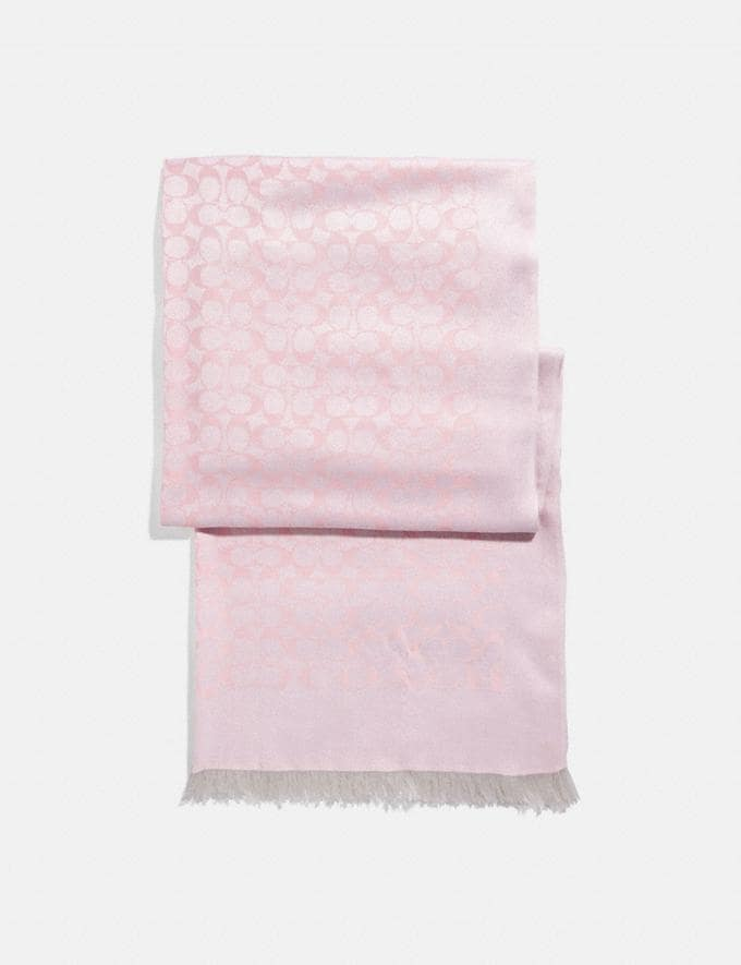 Coach Signature Bicolor Stole Blush New Featured Signature Styles