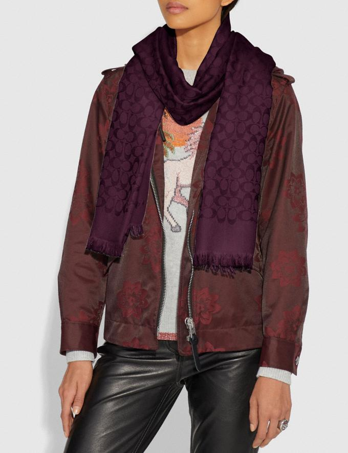Coach Signature Stole Sherry SALE 30% off Select Full-Price Styles Women's Alternate View 1