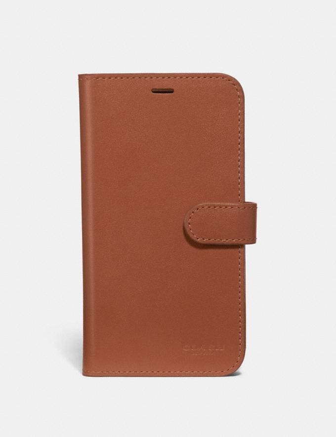 Coach iPhone X/Xs Folio Saddle Women Accessories Tech & Work